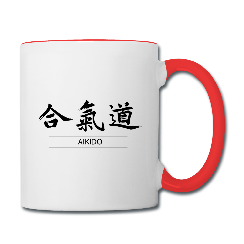 Aikido Coffee Mug - white/red