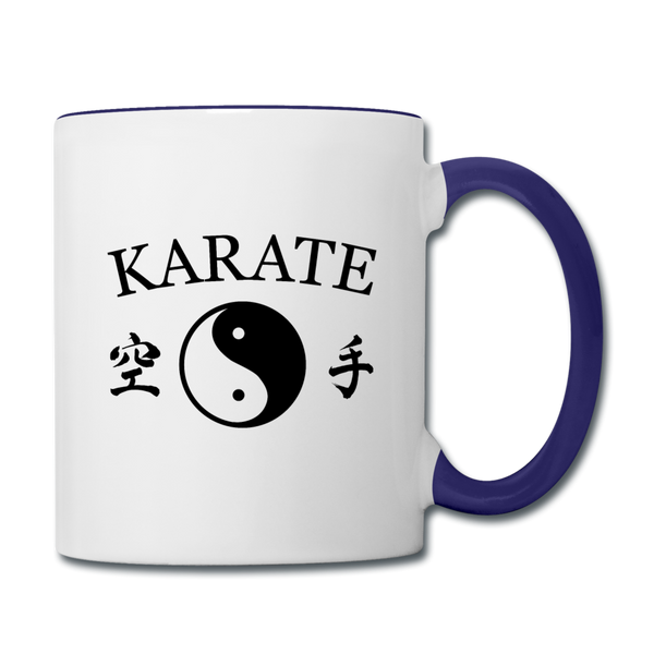 Karate Coffee Mug - white/cobalt blue