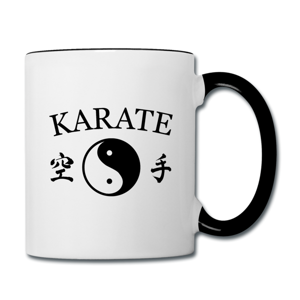Karate Coffee Mug - white/black