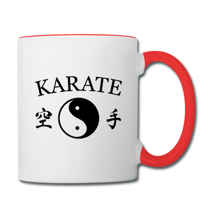 Karate Coffee Mug - white/red