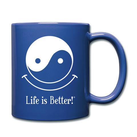 Yin and Yang Life is Better!® Mug - royal blue