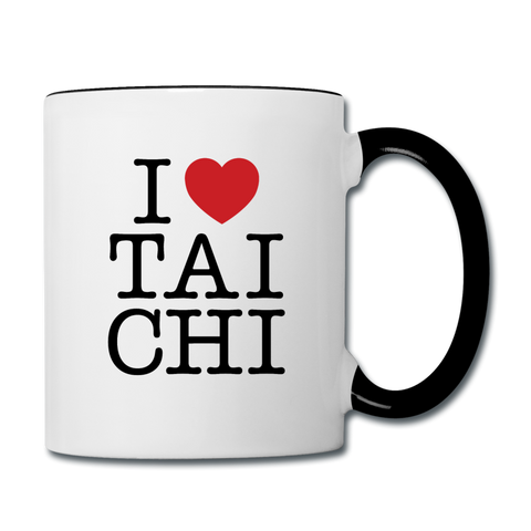 I Love Tai Chi Coffee Mug - white/black