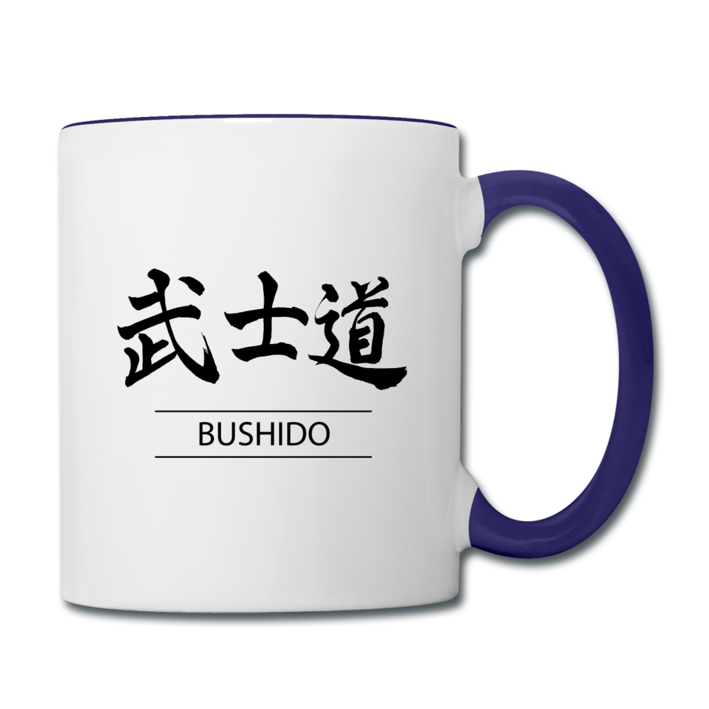 Bushido Coffee Mug - white/cobalt blue