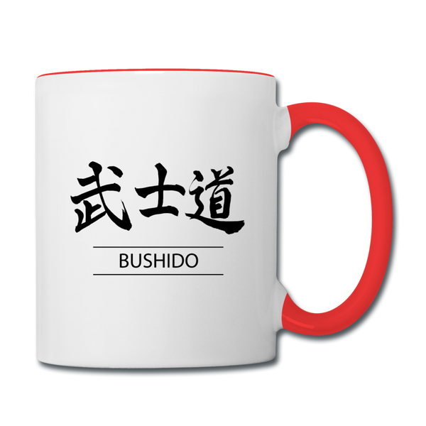 Bushido Coffee Mug - white/red