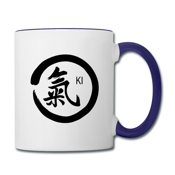 Ki Coffee Mug - white/cobalt blue