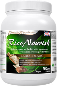 Rice protein plus fibre and herbs 500g powder
