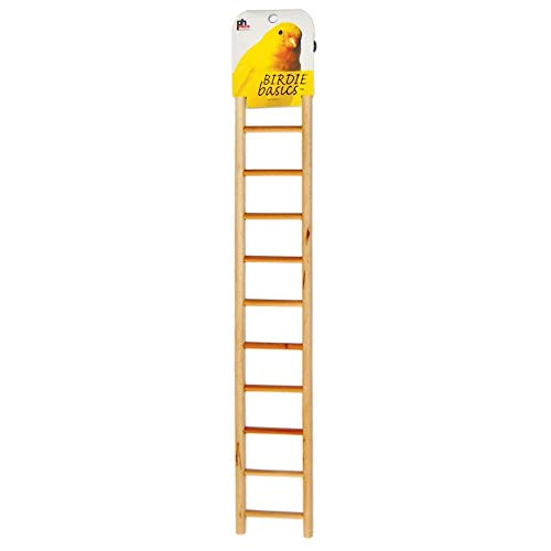 Prevue Pet Products BPV386 Birdie Basics 11-Step Wood Ladder for Bird, 17-Inch