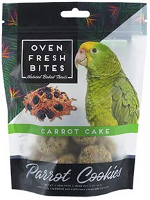Oven Fresh Bites Birdie Munchies Pet Treat, 4-Ounce (Carrot Cake)