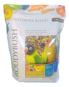 RoudyBush California Blend Bird Food, Mini, 44-Ounce