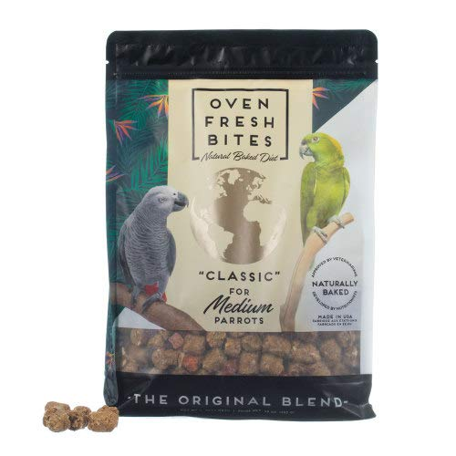 Caitec Corp Oven Fresh Bites- Natural Baked Nutritional Avian Diet- for Medium Birds, 28 oz (2 pk)