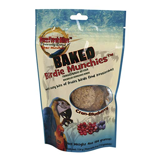 Oven Fresh Bites, Birdie Munchies Cran-Blueberry Parrot Bird Treats, 4 oz