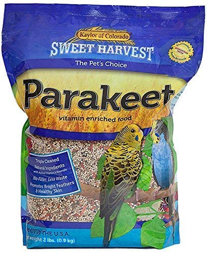 Sweet Harvest Parakeet Bird Food, 4 lbs Bag - Seed Mix for Parakeets