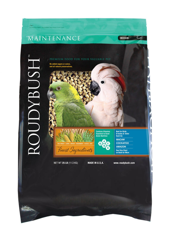 RoudyBush Daily Maintenance Bird Food, Medium, 25-Pound