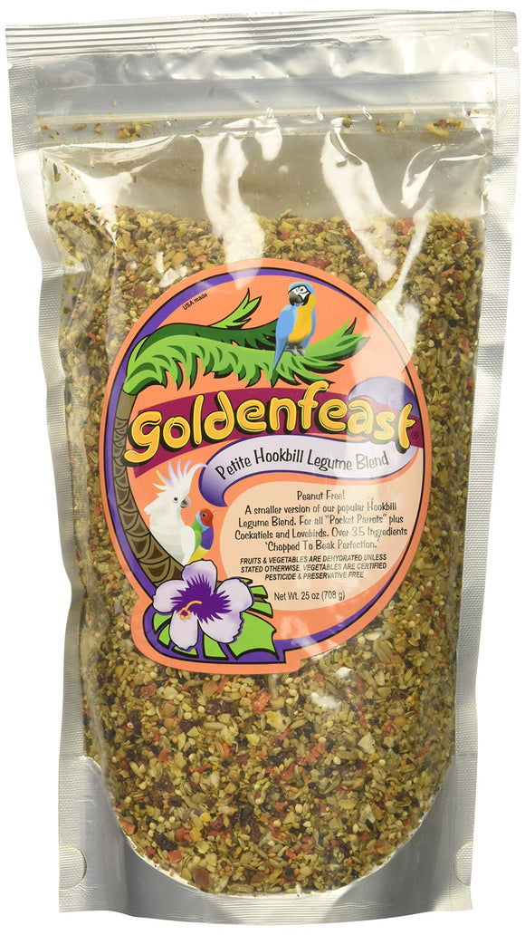 Goldenfeast Hookbill Blend Petite 25oz Bird Food