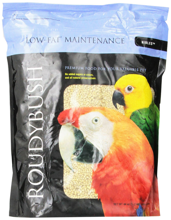 RoudyBush Low Fat Bird Food, Nibles, 44-Ounce