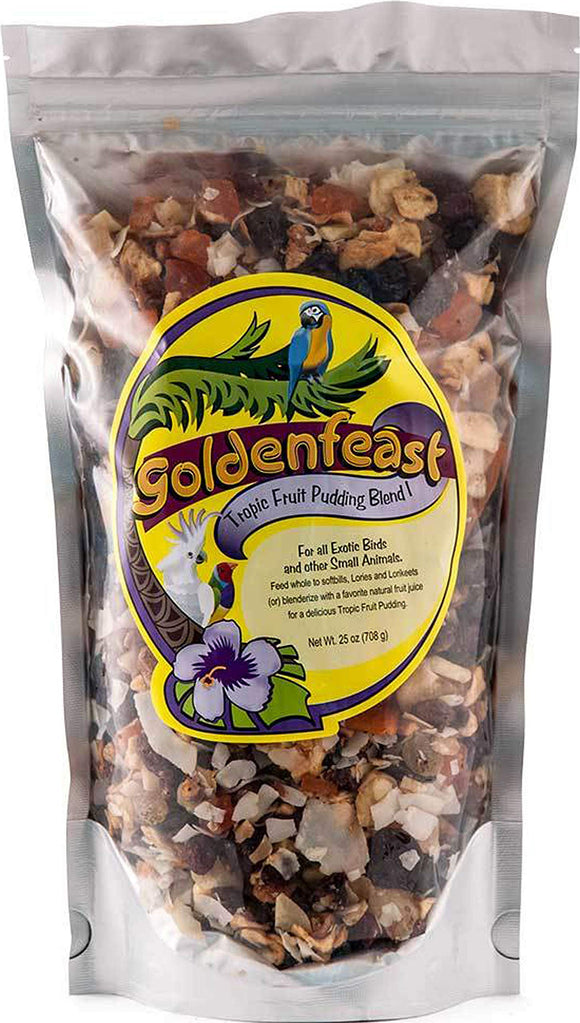 Goldenfeast Tropic Fruit Pudding Blend 25oz Bird Food