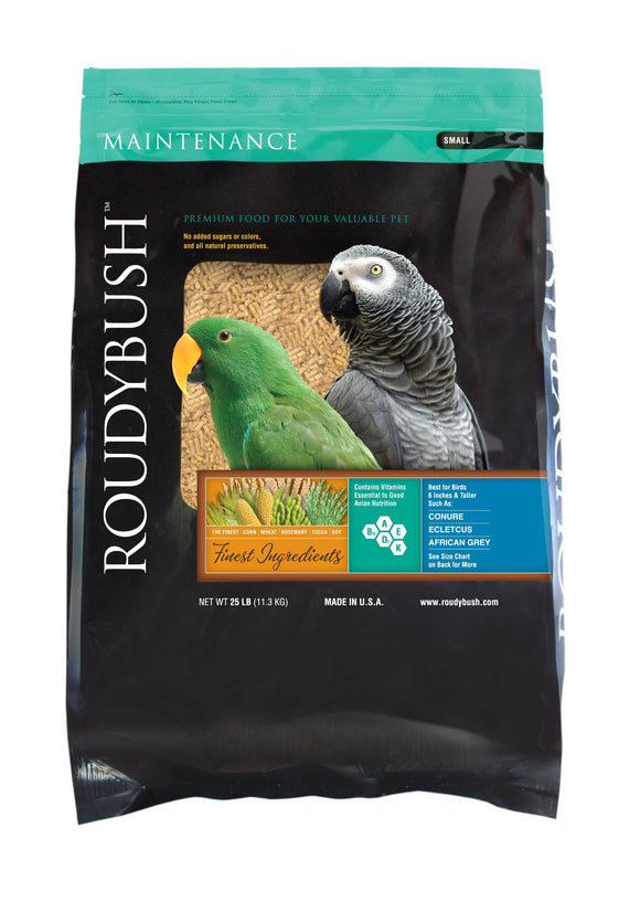 RoudyBush Daily Maintenance Bird Food, Small, 25-Pound
