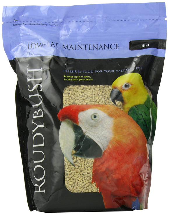 RoudyBush Low Fat Bird Food, Mini, 44-Ounce