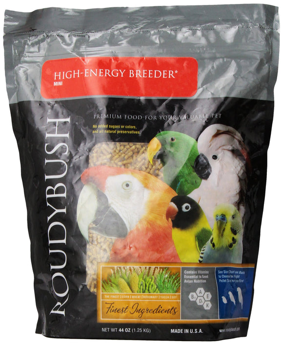RoudyBush High Energy Breeder Bird Food, Mini, 44-Ounce