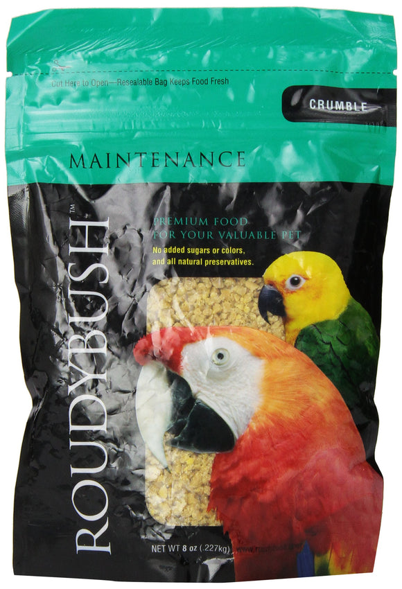 RoudyBush Daily Maintenance Bird Food, Crumbles, 8-Ounce