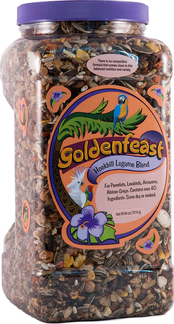 Goldenfeast Hookbill Legume Blend 64Oz Bird Food