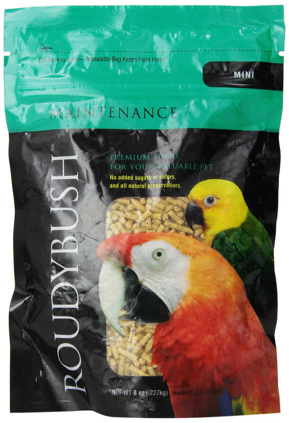 RoudyBush Daily Maintenance Bird Food, Mini, 8-Ounce