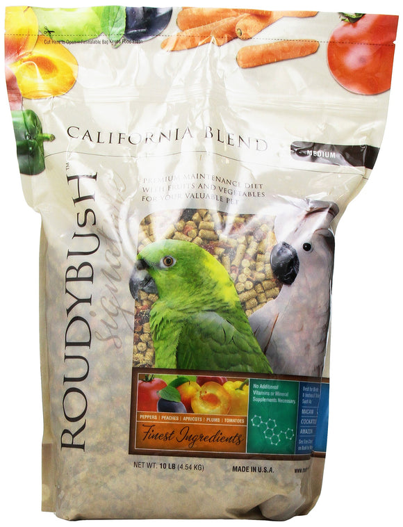 RoudyBush California Blend Bird Food, Medium, 10 Pound