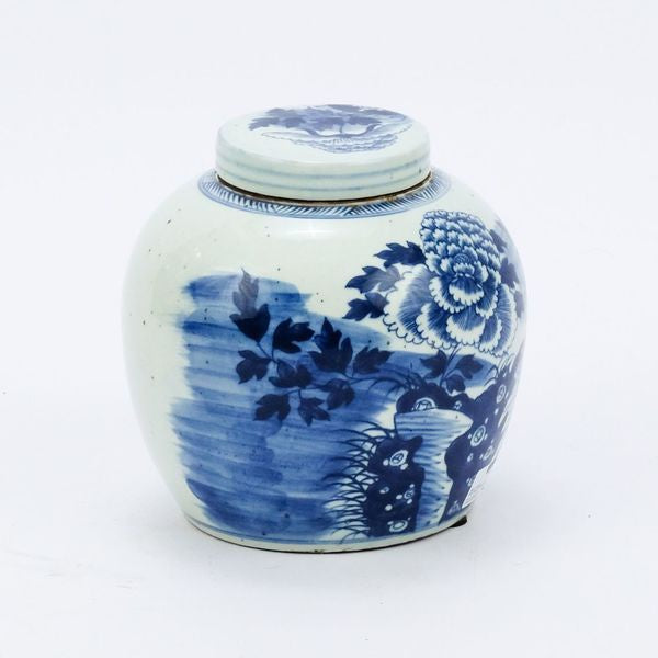 Blue and White Peony Ancestor Jar