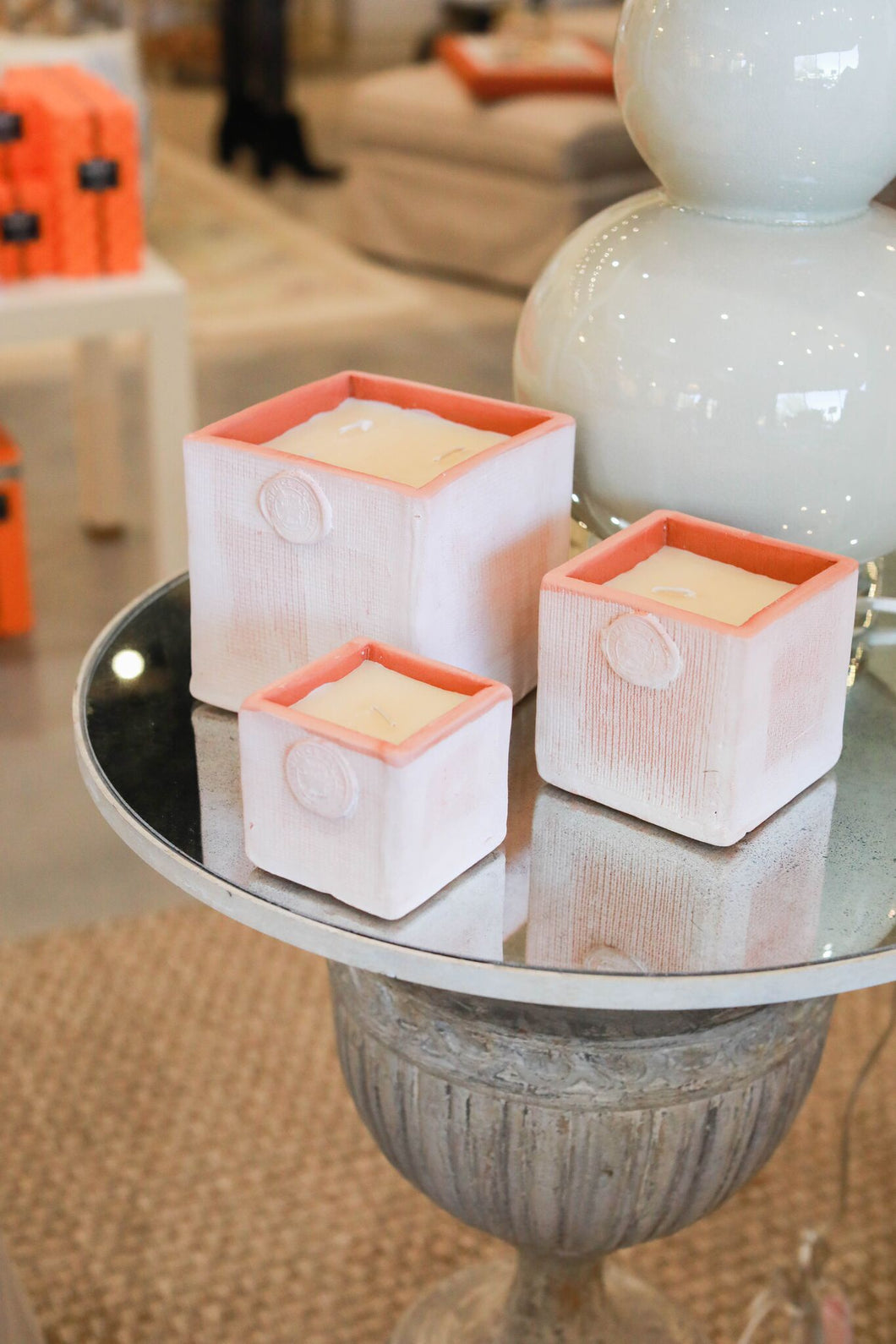 Coldpiece Pottery Cube candle (tuberose)