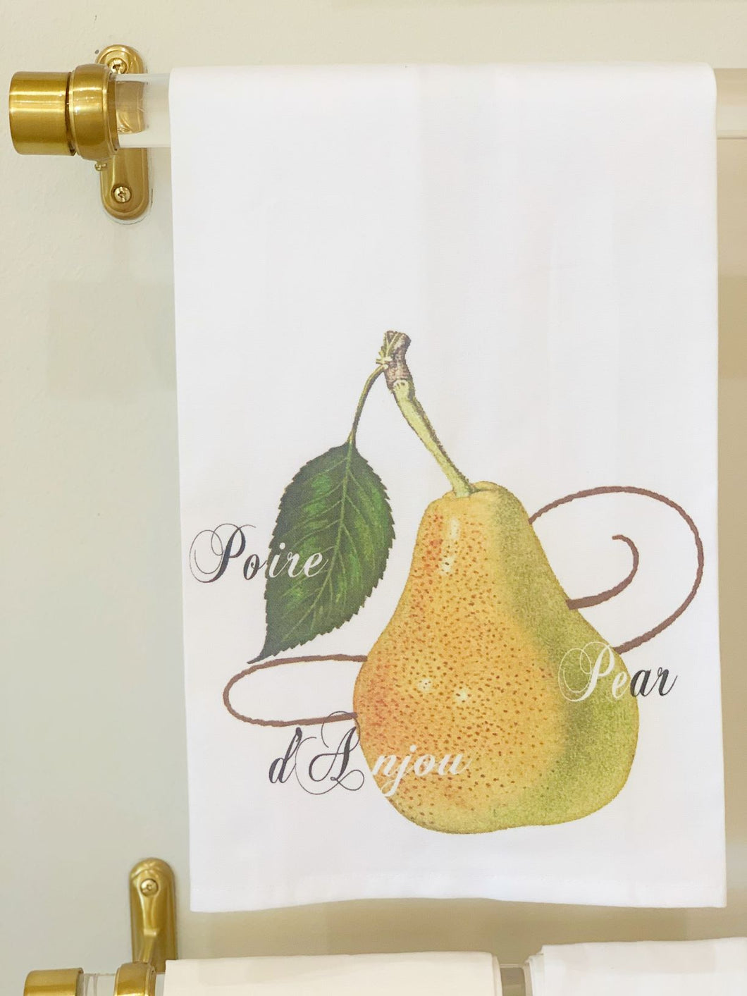 Pear with Text Hand Towel