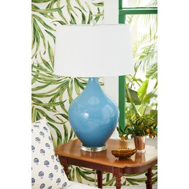 Light Blue Poppy Table Lamp