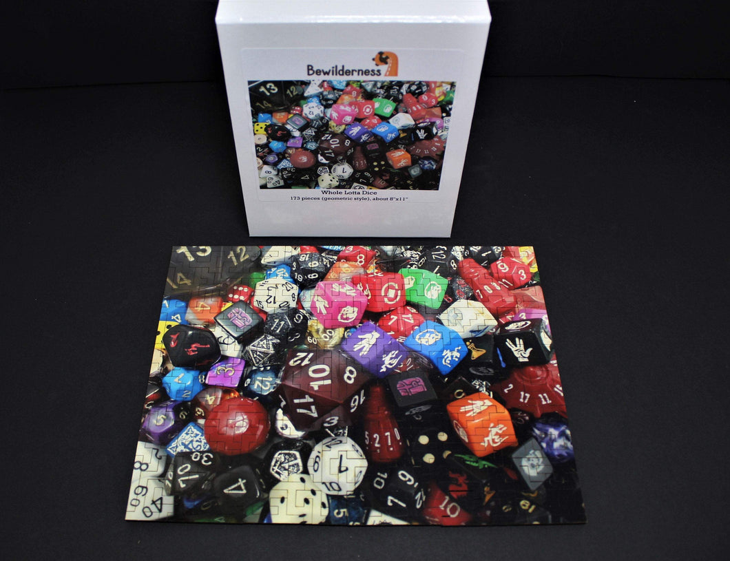 Whole Lotta Dice Wooden Jigsaw Puzzle