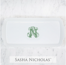 Load image into Gallery viewer, Sasha Nicholas Monogrammed Weave Hostess Platter