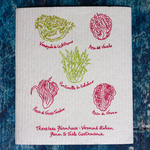 Radicchio Swedish Dishcloth