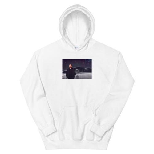 Tesla Cybertruck Window Smash Hoodie - teslaprints.myshopify.com
