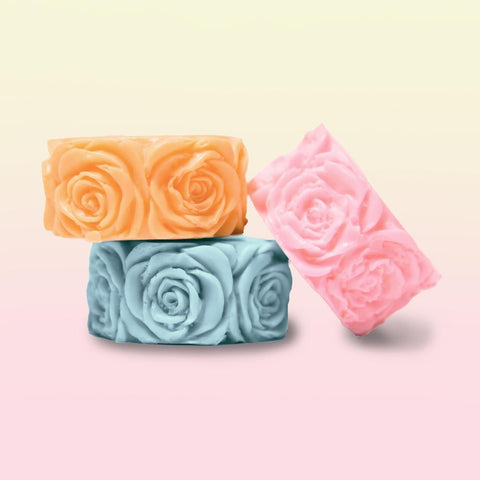 Pack of 3 rose soap