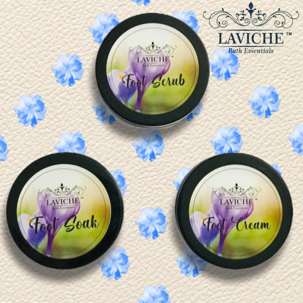 Lavender Foot Kit ( Foot Cream, Foot Scrub, Foot Soak)