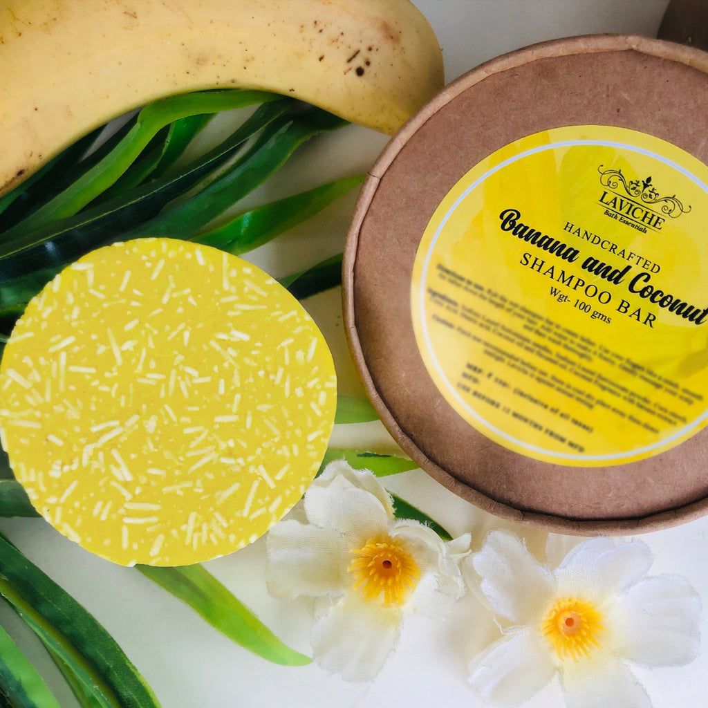 Banana and Coconut Shampoo Bar