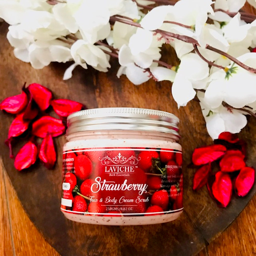Strawberry Face and Body Cream Scrub