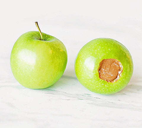 edible filled apple dog toy
