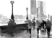 Load image into Gallery viewer, London Eye and the Embankment Indian Ink