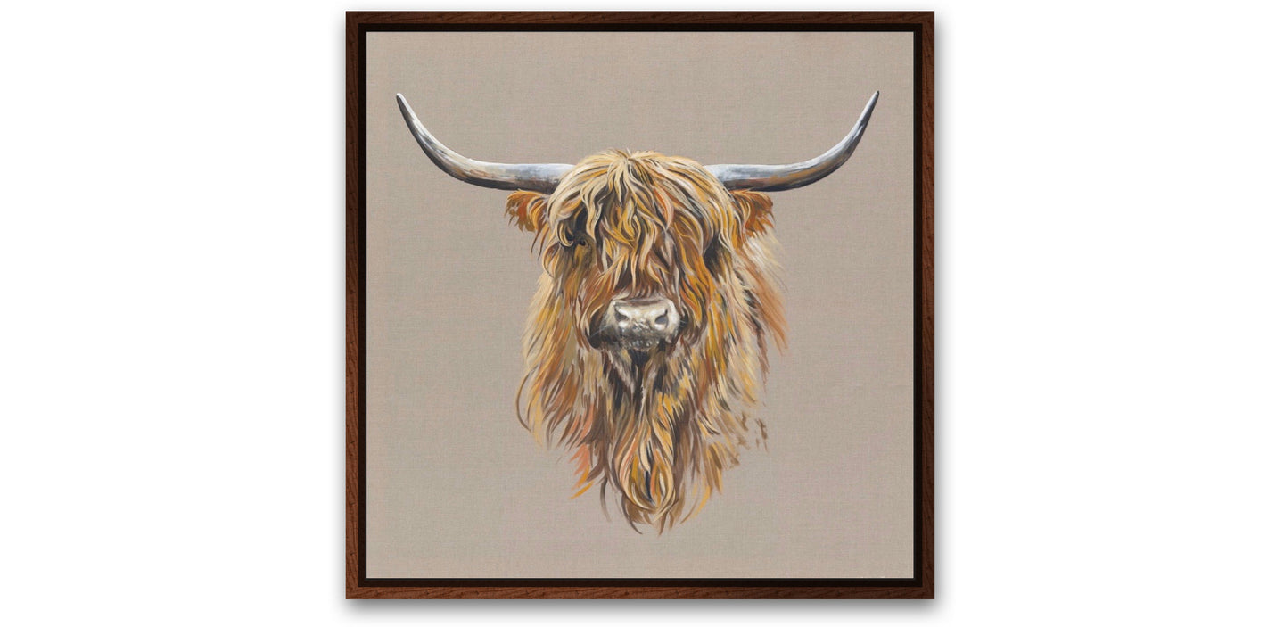 Highland Cow on Canvas