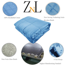 Load image into Gallery viewer, Sky Blue Weighted Blanket Canada
