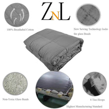 Load image into Gallery viewer, Dark Grey Weighted Blanket Toronto