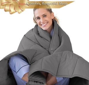 Dark Grey Weighted Blanket Canada