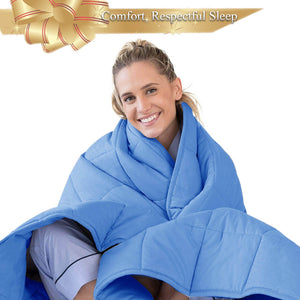 Sky Blue Weighted Blanket Vancouver