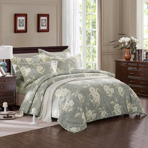 ZNL Calming Tone Luxury Floral Pattern Duvet Cover Canada | Made by Japanese Cotton