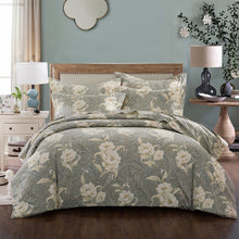 Load image into Gallery viewer, ZNL Calming Tone Luxury Floral Pattern Duvet Cover Richmond | Made by Japanese Cotton