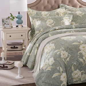 ZNL Calming Tone Luxury Floral Pattern Duvet Cover Surrey | Made by Japanese Cotton