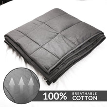 "Load image into Gallery viewer, ZNL_Dark_Grey_ Weighted_Blanket_(20 lbs_48""_x_72""_Twin_Size)_high_end_heavy_blankets"